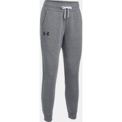 Spodnie sportowe damskie: Under Armour Spodnie dresowe damskie Favorite Fleece Pant szare r. S (1298422-090)
