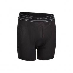 Spodenki pod szorty na rower MTB 500 męskie. Czarne odzież rowerowa męska marki ROCKRIDER, z elastanu, sportowe. Za 49,99 zł.