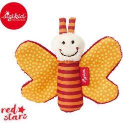 SIGIKID Miękka mini – przytulanka Pomarańczowy motylek z szeleszczącymi skrzydełkami Red Stars. Brązowe przytulanki i maskotki marki SIGIKID. Za 25,99 zł.