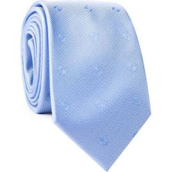 Krawat KWNR001770. Niebieskie krawaty męskie Giacomo Conti, z mikrofibry. Za 69,00 zł.