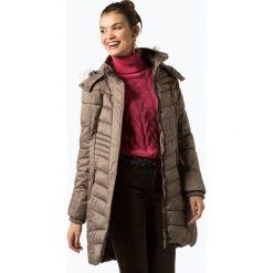 Soquesto - Damski płaszcz pikowany, beżowy. Brązowe płaszcze damskie Soquesto, s, z futra, eleganckie. Za 589,95 zł.