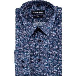 Koszula SIMONE slim KDWS000443. Czarne koszule męskie slim marki Giacomo Conti, m, z bawełny, z klasycznym kołnierzykiem. Za 199,00 zł.