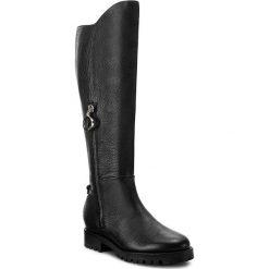 Kozaki BOSS - Adel 50376701 10202331 01 Black 001. Czarne buty zimowe damskie marki Kazar, ze skóry, przed kolano, na wysokim obcasie, na obcasie. W wyprzedaży za 999,00 zł.
