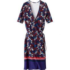 Sukienki: Sukienka kopertowa w kwiaty