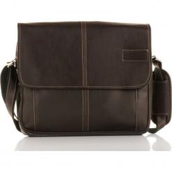 Solier MONTEZ Męska brązowa miejska torba na ramię. Brązowe torby na ramię męskie marki Kazar, ze skóry, przez ramię, małe. Za 124,82 zł.