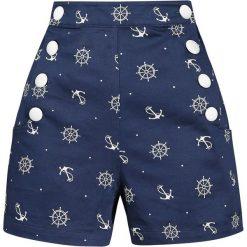 Voodoo Vixen Tina Nautical Shorts Krótkie spodenki damskie granatowy. Niebieskie bermudy damskie Voodoo Vixen. Za 62,90 zł.