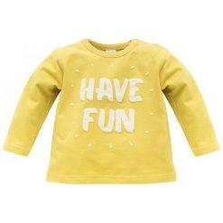 Pinokio Koszulka Chłopięca Funny Dog 68 Żółty. Żółte t-shirty chłopięce Pinokio, z bawełny. Za 33,00 zł.