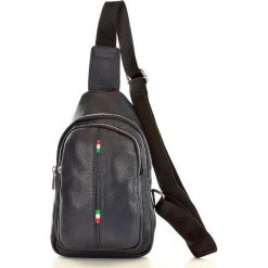 Plecaki damskie: Skórzany plecak torebka miejska – Toledeo Uniform granat ZOE