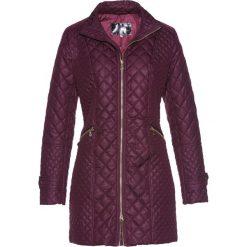 Płaszcz pikowany bonprix czarny bez. Fioletowe płaszcze damskie bonprix, eleganckie. Za 149,99 zł.