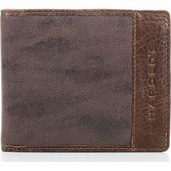 Portfele męskie: Brązowy skórzany portfel męski DESTIN HAROLD'S