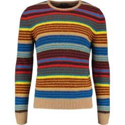 Drumohr Sweter blue. Białe swetry klasyczne męskie marki Bambi, l, z nadrukiem, z okrągłym kołnierzem. W wyprzedaży za 571,05 zł.