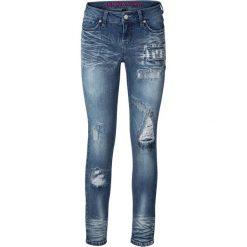 """Dżinsy SKINNY bonprix niebieski """"stone"""". Niebieskie jeansy damskie marki House, z jeansu. Za 129,99 zł."""