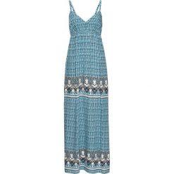 Sukienki: Długa sukienka bonprix morski wzorzysty