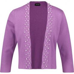 Kardigan w kolorze fioletowym. Fioletowe kardigany damskie marki Taifun, z bawełny. W wyprzedaży za 108,95 zł.