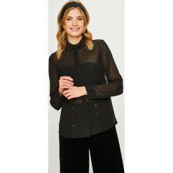 Answear - Koszula. Czarne koszule damskie marki ANSWEAR, uniwersalny, z poliesteru, casualowe, z długim rękawem. W wyprzedaży za 79,90 zł.