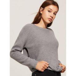 Sweter o ryżowym splocie - Jasny szar. Szare swetry klasyczne damskie House, l, ze splotem. Za 69,99 zł.