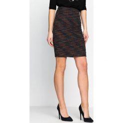 Spódniczki: Czarno-Pomarańczowa Spódnica Chimney