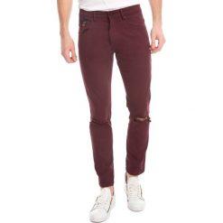 Spodnie męskie: Spodnie w kolorze bordowym