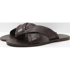 Klapki męskie: Trussardi Jeans CRISS CROSS Klapki dark brown