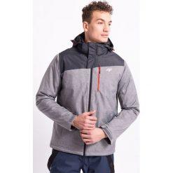Kurtka narciarska męska KUMN002Z - szary melanż - 4F. Szare kurtki męskie zimowe 4f, m, melanż, z materiału, z kapturem. Za 249,99 zł.