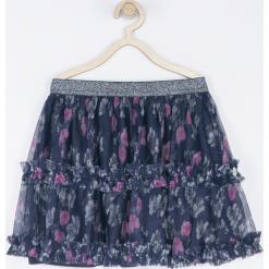 Spódnica. Szare spódniczki dziewczęce z falbankami HEART SMILE, z nadrukiem, z bawełny. Za 65,90 zł.