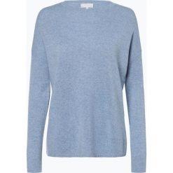 Marie Lund - Sweter damski z czystego kaszmiru, niebieski. Niebieskie swetry klasyczne damskie Marie Lund, l, z dzianiny. Za 449,95 zł.