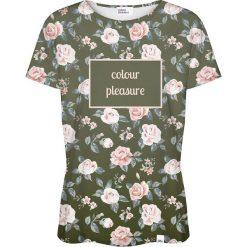 Colour Pleasure Koszulka damska CP-030 266 zielono-różowa r. XS/S. Czerwone bluzki damskie Colour pleasure, s. Za 70,35 zł.