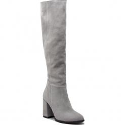 Muszkieterki R.POLAŃSKI - 0973 Szary Zamsz. Czarne buty zimowe damskie marki R.Polański, ze skóry, na obcasie. W wyprzedaży za 299,00 zł.