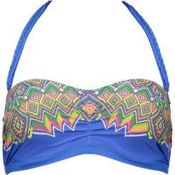 """Stroje dwuczęściowe damskie: Biustonosz bikini """"Sarram"""" w kolorze niebieskim ze wzorem"""