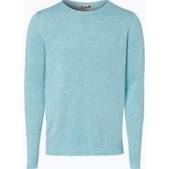 Swetry męskie: DENIM by Nils Sundström - Męski sweter z lnu, zielony