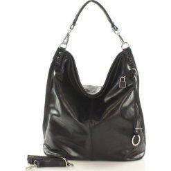 Torebki worki: Skóra naturalna torebka worek Isabella czarny