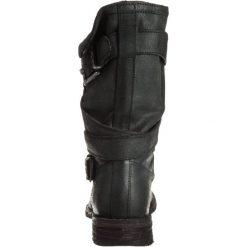Felmini GREDO Kowbojki i obuwie motocyklowe zenia black. Czarne buty zimowe damskie marki Felmini, z materiału. Za 699,00 zł.