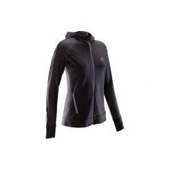 Bluza do biegania RUN WARM NIGHT damska. Czarne bluzy z kieszeniami damskie marki KALENJI, z elastanu. Za 119,99 zł.