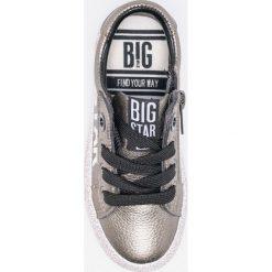 Big Star - Tenisówki dziecięce. Szare buty sportowe dziewczęce BIG STAR, z gumy, na sznurówki. Za 99,90 zł.