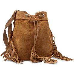 Torebka CREOLE - RBI10134 Brąz Zamsz. Brązowe torebki klasyczne damskie Creole, ze skóry. W wyprzedaży za 129,00 zł.