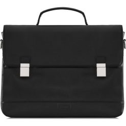Teczka męska. Czarne walizki Ochnik, w paski, ze skóry, duże. Za 499,90 zł.