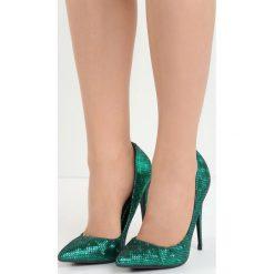 Zielone Szpilki Kick Up Heels. Zielone szpilki Born2be, ze skóry, na wysokim obcasie. Za 89,99 zł.