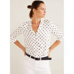 Mango - Koszula Mao. Szare koszule damskie marki Mango, l, w paski, z tkaniny, z długim rękawem. Za 89,90 zł.