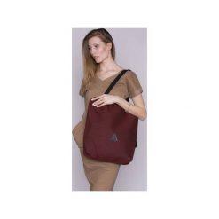 TORBA DAMSKA na ramię bordo. Czerwone torebki klasyczne damskie drops, w paski, z bawełny. Za 139,00 zł.