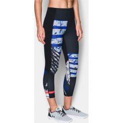 Spodnie dresowe damskie: Under Armour Spodnie damskie Mirror Hi-Rise Printed Crop Czarne r. XS (1302258-001)