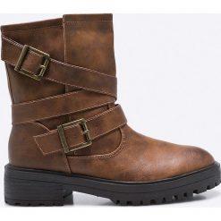 Corina - Botki. Czarne buty zimowe damskie marki Mohito, na obcasie. W wyprzedaży za 59,90 zł.