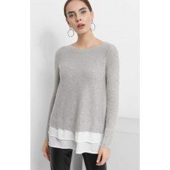 Sweter z cekinami. Czarne swetry klasyczne damskie marki KIPSTA, m, z elastanu, z długim rękawem, na fitness i siłownię. Za 119,99 zł.