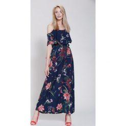 Sukienki: Granatowa Sukienka Floral Goddess