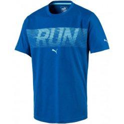 Puma Koszulka Sportowa Run Ss Tee Lapis Blue Heather Xl. Brązowe koszulki do fitnessu męskie Puma, m, z materiału. W wyprzedaży za 109,00 zł.