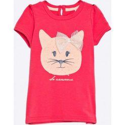 Name it - Top dziecięce 82-110. Czerwone bluzki dziewczęce Name it, l, z nadrukiem, z bawełny, z okrągłym kołnierzem. W wyprzedaży za 37,90 zł.