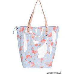 Torba Neon z Flamingami. Niebieskie torebki klasyczne damskie N/A, z bawełny. Za 200,00 zł.