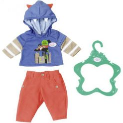 Baby Born Ubranko Chłopięce – Niebieska Bluza. Niebieskie bluzy niemowlęce marki Baby Born, z nadrukiem. W wyprzedaży za 40,00 zł.