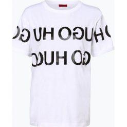 HUGO - T-shirt damski – Denalisa_2, czarny. Czarne t-shirty damskie HUGO, l. Za 269,95 zł.