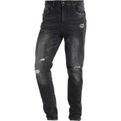 Jeansy męskie regular: Antioch ANTIOCH WASHED BLACK STRETCH Jeansy Slim Fit washed black