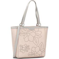 Torebka MONNARI - BAG1170-004 Pink. Brązowe torebki klasyczne damskie marki Monnari, w paski, z materiału, średnie. W wyprzedaży za 139,00 zł.